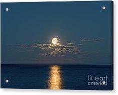 Worm Moon Over The Atlantic Acrylic Print