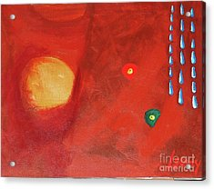 Acrylic Print featuring the painting Worms Of Christmas Washed Away by Rod Ismay