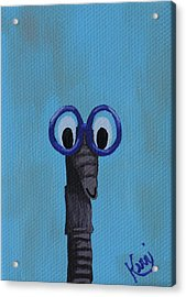 Worm's School Picture Acrylic Print by Kerri Ertman