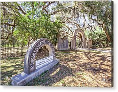 Wormsloe Historic Site Acrylic Print by Joan McCool