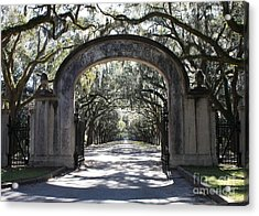 Wormsloe Plantation Gate Acrylic Print