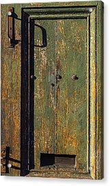 Worn Green Door Acrylic Print