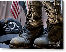 Worn Out Veteran Acrylic Print by Melany Sarafis