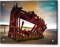 Worn Rusting Shipwreck Acrylic Print