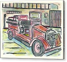 Worthington Fire Engine Acrylic Print by Matt Gaudian