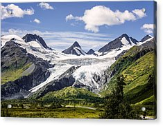 Acrylic Print featuring the photograph Worthington Glacier by Claudia Abbott