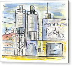 Worthington Ready Mix Acrylic Print by Matt Gaudian