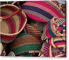 Woven Baskets Acrylic Print by Walter Beck