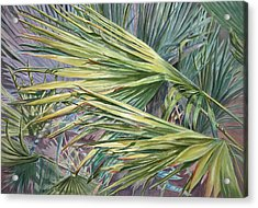 Acrylic Print featuring the painting Woven Fronds by Roxanne Tobaison