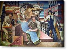 Wpa Mural. Mural By Charles Klauder Ca Acrylic Print by Everett