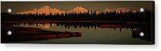 Wrangell Mountains At Sunset Acrylic Print