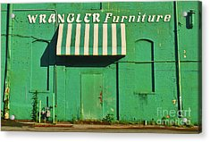 Wrangler Furniture Acrylic Print