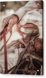Wrangler Hands Acrylic Print