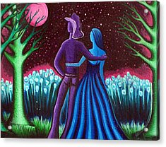 Wrangler's Moon Acrylic Print by Brenda Higginson