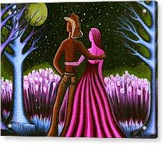 Wrangler's Moon II Acrylic Print by Brenda Higginson