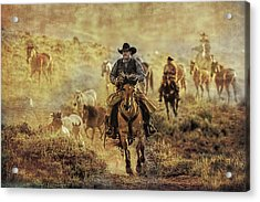 A Dusty Wyoming Wrangle Acrylic Print