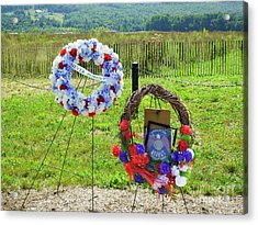 Wreath Laying Area Acrylic Print