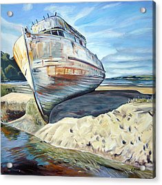 Wreck Of The Old Pt. Reyes Acrylic Print by Colleen Proppe