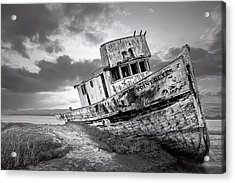 Wrecked In Point Reyes Acrylic Print