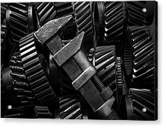 Wrench On Gears Acrylic Print