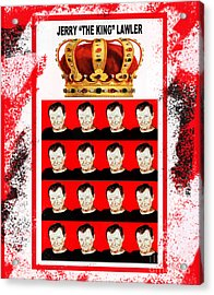 Wrestling Legend Jerry The King Lawler IIi Acrylic Print