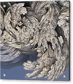 Wrestling With Angels #3 Acrylic Print by David Sulik
