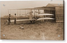 Wright Brothers 2nd Powered Machine Acrylic Print by Padre Art