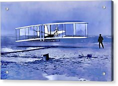 Wright Brothers First Flight Graphic Acrylic Print