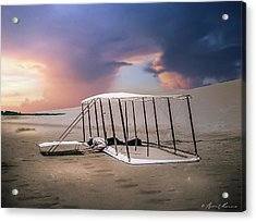 Wright Brothers Glider Acrylic Print by Brent Shavnore