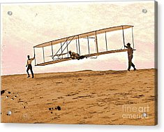 Wright Brothers Start Glide Acrylic Print