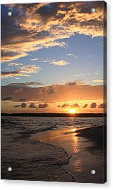 Wrightsville Beach Island Sunset Acrylic Print by Mountains to the Sea Photo