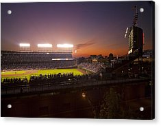 Wrigley Field At Dusk Acrylic Print