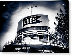 Wrigley Field Bleachers In Black And White Acrylic Print