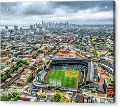 Wrigley Field Chicago Skyline Acrylic Print