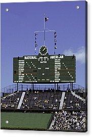 Wrigley Field Classic Scoreboard 1977 Acrylic Print