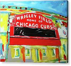 Wrigley Field Acrylic Print by Elliott From