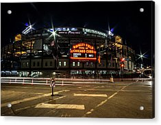 Wrigley Field Marquee At Night Acrylic Print