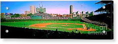 Acrylic Print featuring the photograph Wrigley Field  by Tom Jelen