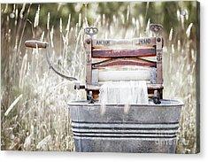 Wringer Washer - Retro Matte Acrylic Print
