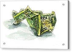 Wrinkled Dollar Acrylic Print