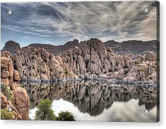 Wrinkled Reflections Acrylic Print by Donna Kennedy