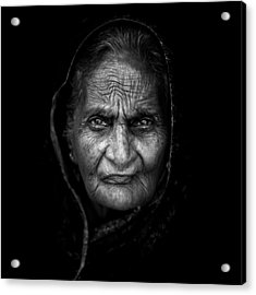 Wrinkles Acrylic Print by Mohammed Baqer