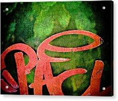 Writ Large Acrylic Print by Odd Jeppesen
