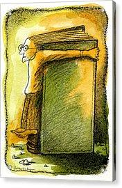 Writer Acrylic Print by Leon Zernitsky