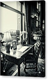 Writing Desk Bw Series 0808 Acrylic Print