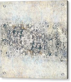 Writing On The Wall Number 4 Square Acrylic Print