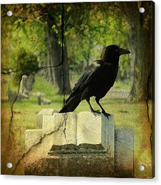 Written In Stone Acrylic Print by Gothicrow Images