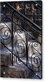 Wrought Iron Bannister  Acrylic Print by Robert Ullmann