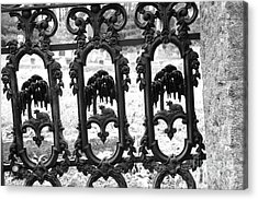 Wrought Iron Gate -west Epping Nh Usa Acrylic Print by Erin Paul Donovan
