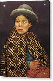 Ws1979bo013 Eloisa La Paz  14x20 Acrylic Print by Alfredo Da Silva